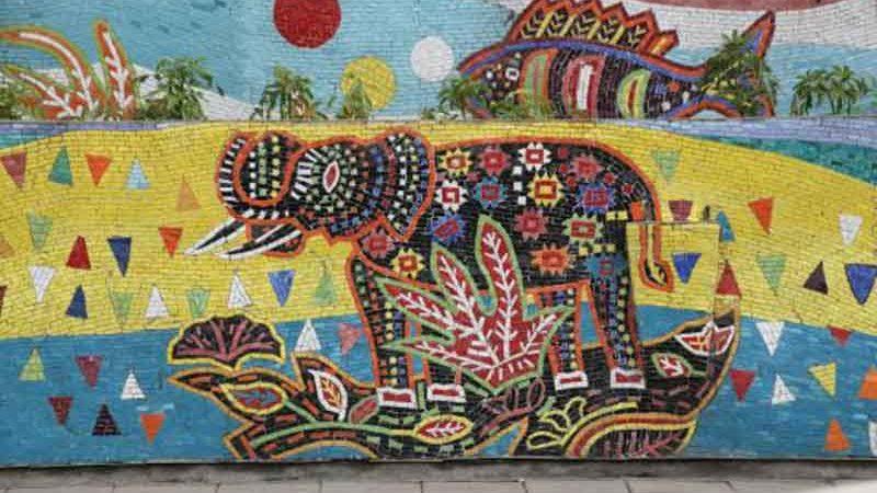 mosaico en hanoi